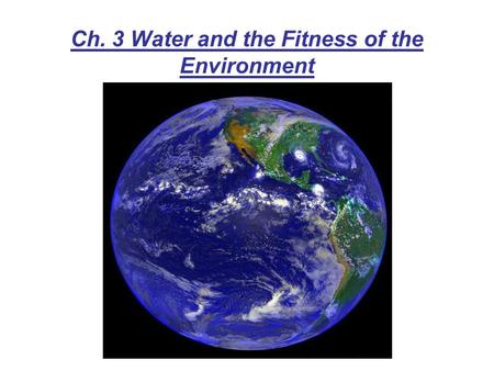 Ch. 3 Water and the Fitness of the Environment. 3.1 The polarity of water molecules results in hydrogen bonding Unequal sharing due to difference in electronegativity.