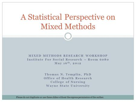 Mixed methods phd thesis