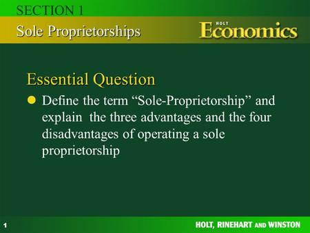 Explain the term business