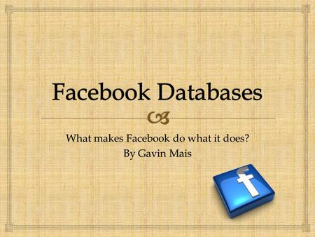 What makes Facebook do what it does? By Gavin Mais.