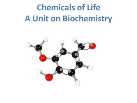Chemicals of Life A Unit on Biochemistry. Important terms: Atoms: Basic building block of matter.