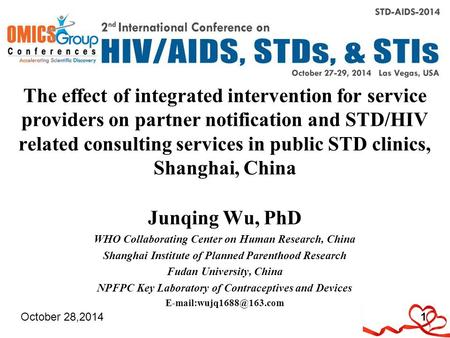 The effect of integrated intervention for service providers on partner notification and STD/HIV related consulting services in public STD clinics, Shanghai,