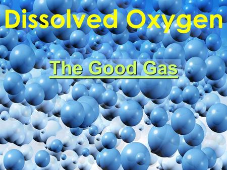 Dissolved Oxygen The Good Gas. Photosynthesis: Your one-stop shop for all of your oxygen needs! Carbon Dioxide (from air) Water (from ground) Oxygen (to.