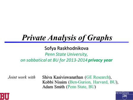 Private Analysis of Graphs