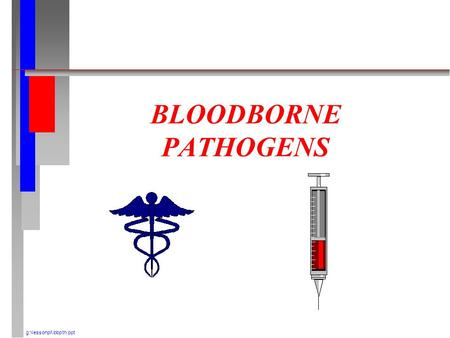 BLOODBORNE PATHOGENS g:\lessonpl\ bbpth.ppt. INTRODUCTION n OSHA ESTIMATES 5.6 MILLION WORKERS IN HEALTH CARE AND OTHER FACILITIES ARE AT RISK OF EXPOSURE.