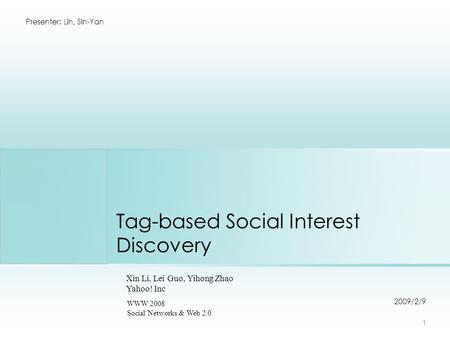 master thesis social tagging