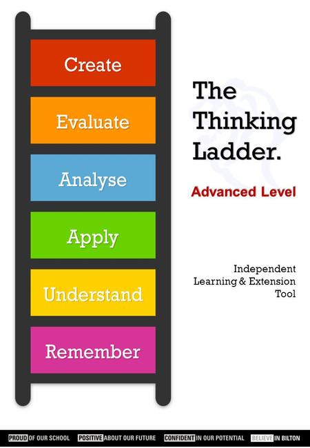 The Thinking Ladder. Advanced Level Independent Learning & Extension Tool.