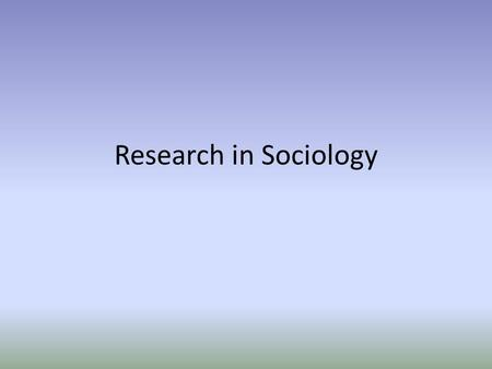 Research in Sociology. Research methods Factual or empirical questions only ask about the facts of an event and do not consider why or how the event occurs.