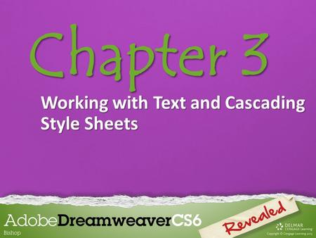 Chapter 3 Working with Text and Cascading Style Sheets.