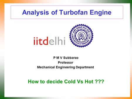 Analysis of Turbofan Engine