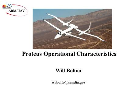 Proteus Operational Characteristics Will Bolton
