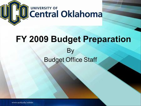 FY 2009 Budget Preparation By Budget Office Staff.