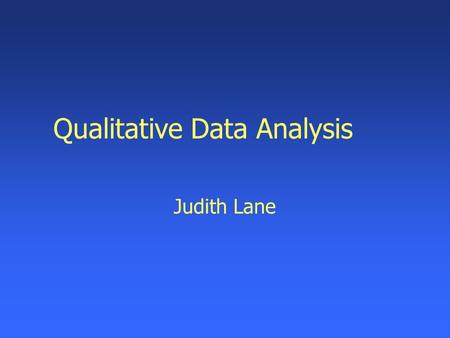 analysing interviews dissertation Presenting findings (qualitative) form of quotations from interviews and excerpts from be avoided simply because this is a qualitative dissertation.