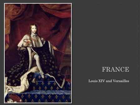FRANCE Louis XIV and Versailles. Overview of Versailles palace and grounds.