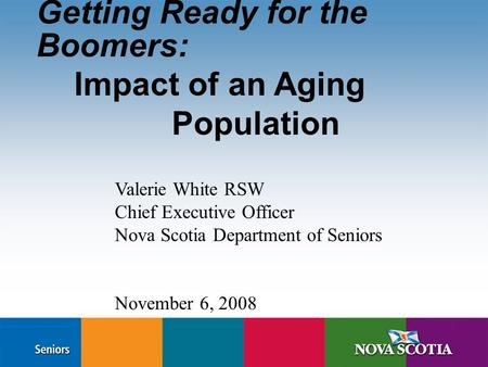 impact of aging people