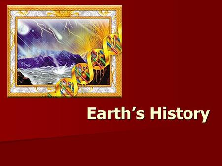 Earth's History. Earth probably formed from an accumulation of rock, dust, and gases drawn together by its own gravity about 4.6 billion years ago Earth.
