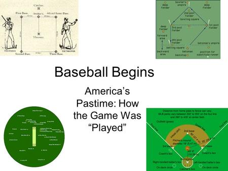 "Baseball Begins America's Pastime: How the Game Was ""Played"""