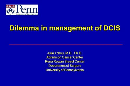 Dilemma in management of DCIS