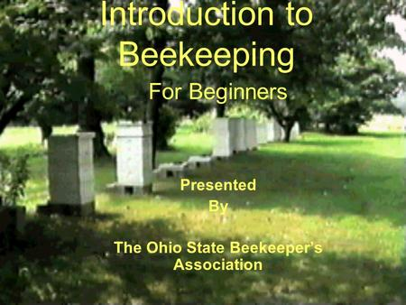 Introduction to Beekeeping For Beginners Presented By The Ohio State Beekeeper's Association.