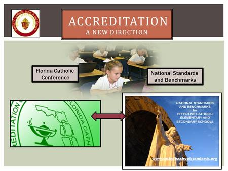 ACCREDITATION A NEW DIRECTION Florida Catholic Conference National Standards and Benchmarks.