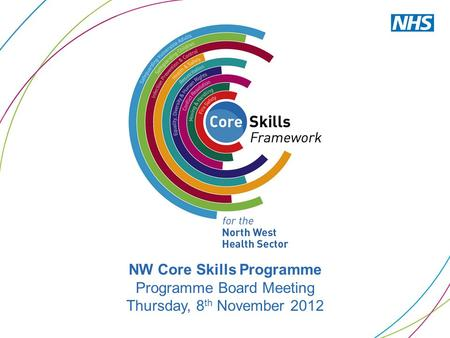 NW Core Skills Programme Programme Board Meeting Thursday, 8 th November 2012.
