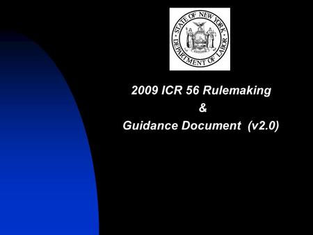 2009 ICR 56 Rulemaking & Guidance Document (v2.0).