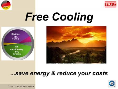 STULZ – THE NATURAL CHOICE 1 Free Cooling...save energy & reduce your costs.