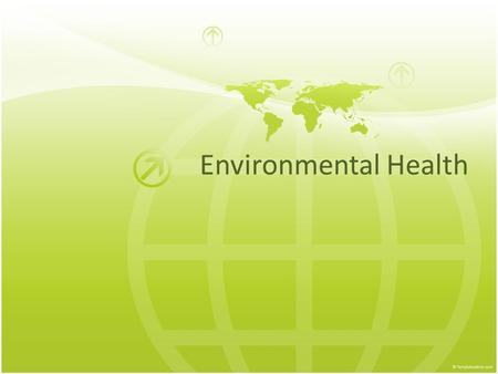 Environmental Health. Water Pollution Water pollution is a major global problem. It has been suggested that it is the leading worldwide cause of deaths.