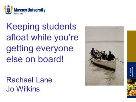 Keeping students afloat while you're getting everyone else on board!