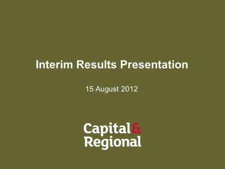 Interim Results Presentation 15 August 2012. 2 Agenda Key Events Operations 2012 Interim Results Outlook Questions & Answers.
