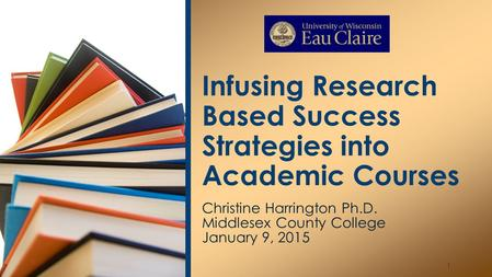 Infusing Research Based Success Strategies into Academic Courses
