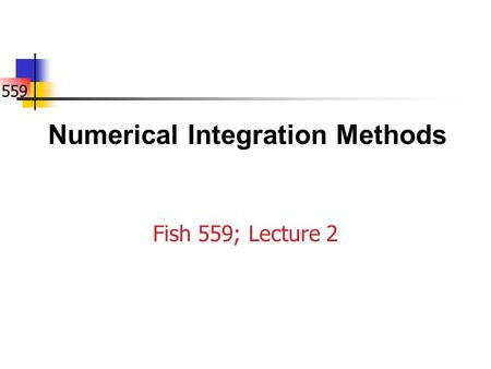 Numerical Integration Methods