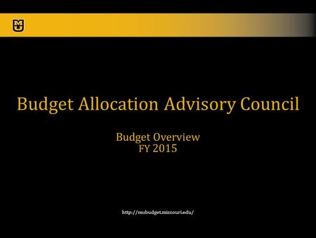 1  Budget Allocation Advisory Council Budget Overview FY 2015.