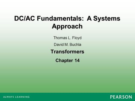 DC/AC Fundamentals: A Systems Approach