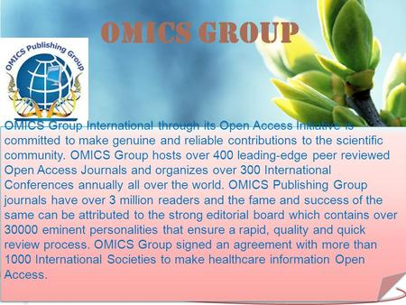 Membrane Separation Technology Lab OMICS Group Contact us at: OMICS Group International through its Open Access Initiative.