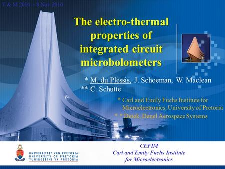 The electro-thermal properties of integrated circuit microbolometers