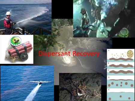 Dispersant Recovery. Dispersants to clean oil The use of dispersants in the recovery The effect of the dispersants on the recovery The recovery from the.