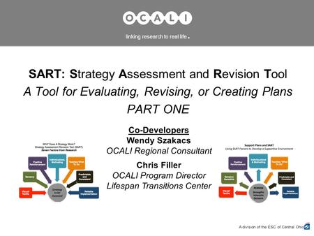 SART: Strategy Assessment and Revision Tool A Tool for Evaluating, Revising, or Creating Plans PART ONE A division of the ESC of Central Ohio linking research.