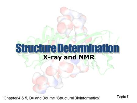 "X-ray and NMR Topic 7 Chapter 4 & 5, Du and Bourne ""Structural Bioinformatics"""