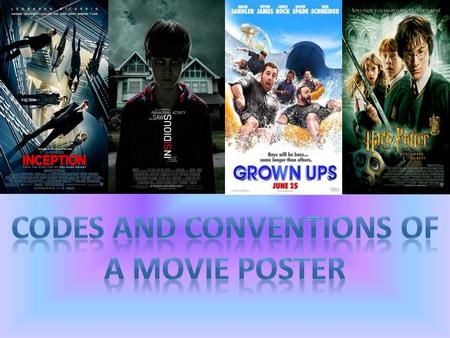 There are various types of movie posters such as teaser trailer posters, DVD release posters and cinema release posters. However they all advertise the.