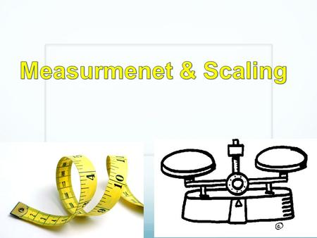 Measurmenet & Scaling.