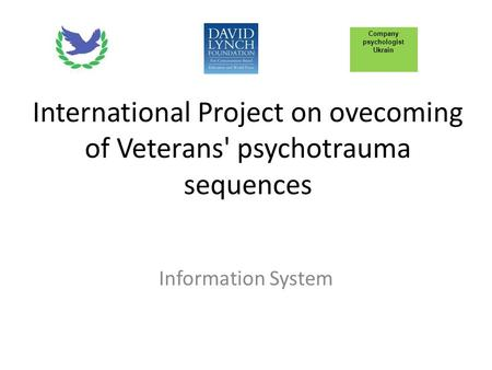 International Project on ovecoming of Veterans' psychotrauma sequences Information System Company psychologist Ukrain.