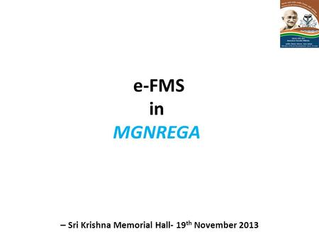 – Sri Krishna Memorial Hall- 19th November 2013