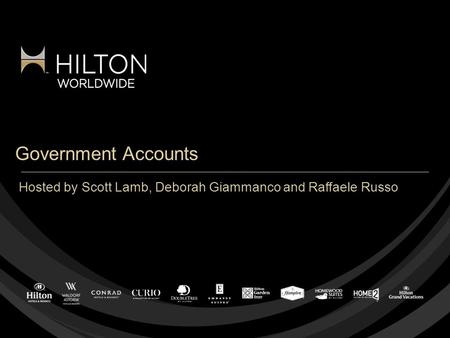 Government Accounts Hosted by Scott Lamb, Deborah Giammanco and Raffaele Russo.