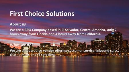 First Choice Solutions