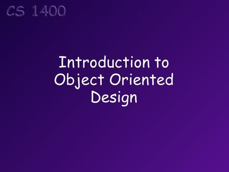 Introduction to Object Oriented Design. Topics Designing Your Own Classes Attributes and Behaviors Class Diagrams.