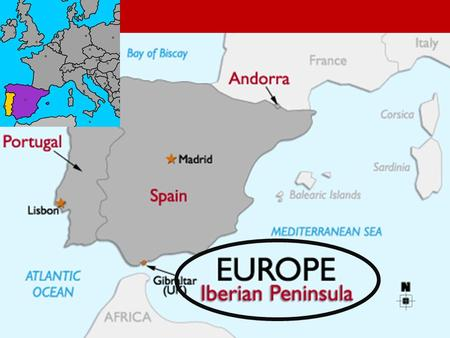 Spain. Spain Where is Spain located? Spain is located on the Iberian Peninsula. It is in the southwest of Europe. Spain takes up about 85% of Iberia.