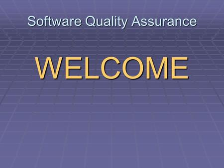 Software Quality Assurance WELCOME. Portnov Computer School Mikhail Portnov  1978BSEE (major in Telecommunications)  1983MS in Math  1987-1990 Post-Graduate.
