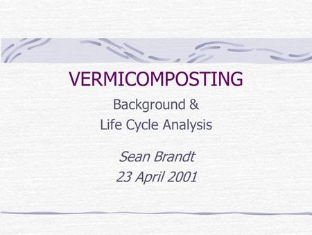 concept and description of vermiculture and vermicomposting environmental sciences essay Concept and description of vermiculture and vermicomposting environmental sciences essay print reference this disclaimer: this work has been submitted by a student.