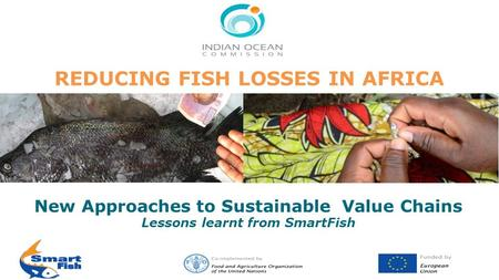 REDUCING FISH LOSSES IN AFRICA New Approaches to Sustainable Value Chains Lessons learnt from SmartFish.